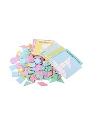 Развивающие пазлы Монтессори QZM TOY 90 геометрических фигур, 24 задания, 12 карточек для детей от 3-х лет
