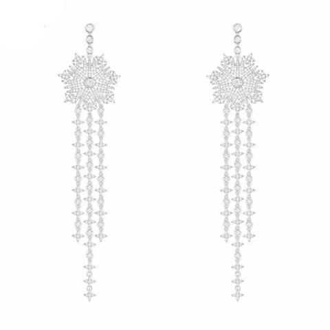 23813 - Серьги длинные из серебра в стиле APM MONACO