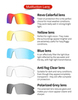 Очки солнцезащитные XQ515, (чёрный глянец / дымчатые) +3 доп. линзы