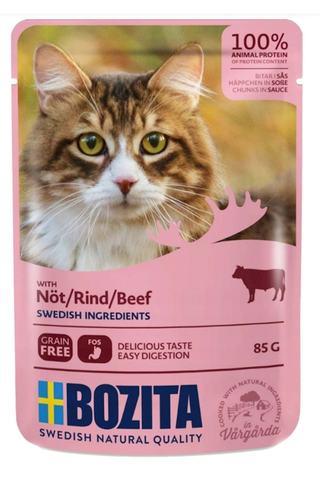 Bozita Pouch Beef in sauce Консервы для взрослых кошек с говядиной, кусочки в соусе (Пауч)