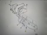 Гайка М8 крепления турбины JCB 3CX 4CX 320/06008