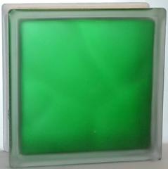 Стеклоблок полуматовый Изумрудный (матовый с одной стороны) Vitrablok  19x19x8