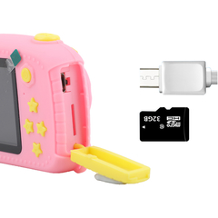 Фотоаппарат детский SmileZoom Мишка 20 Мп / Оранжевый + вид сбоку