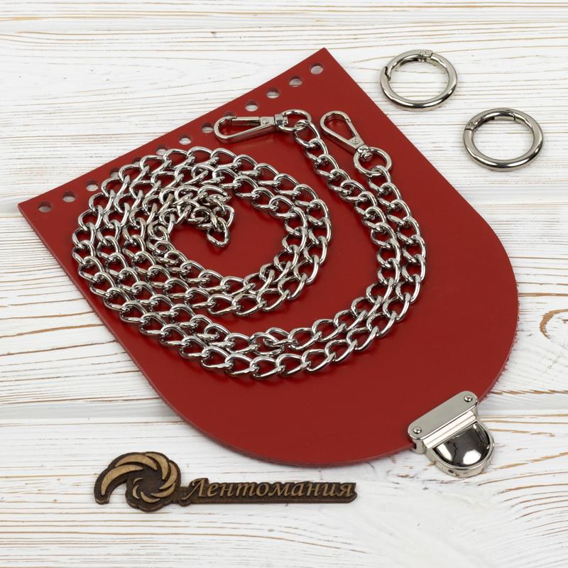 """Каталог Комплект для сумочки Орео """"Красный"""" с цепочкой IMG_7406.jpg"""