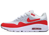 Кроссовки Мужские Nike Air Max 1 Hyper Flyknit  Red Grey White