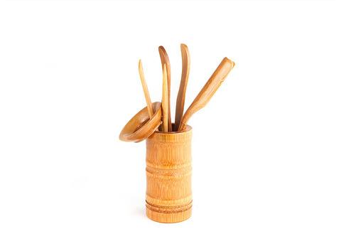 Инструменты для чайной церемонии (светлый бамбук) 6 предметов. Интернет магазин чая
