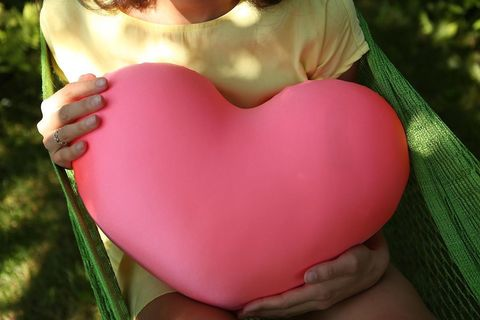 Подушка-игрушка антистресс Gekoko «Большое розовое сердце» 3
