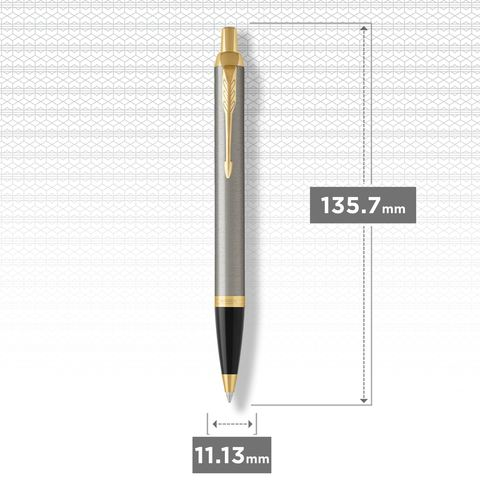 Шариковая ручка Parker IM Metal Core Brushed Metal GT123