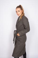 Удлиненное пальто из кашемира с поясом интернет магазин
