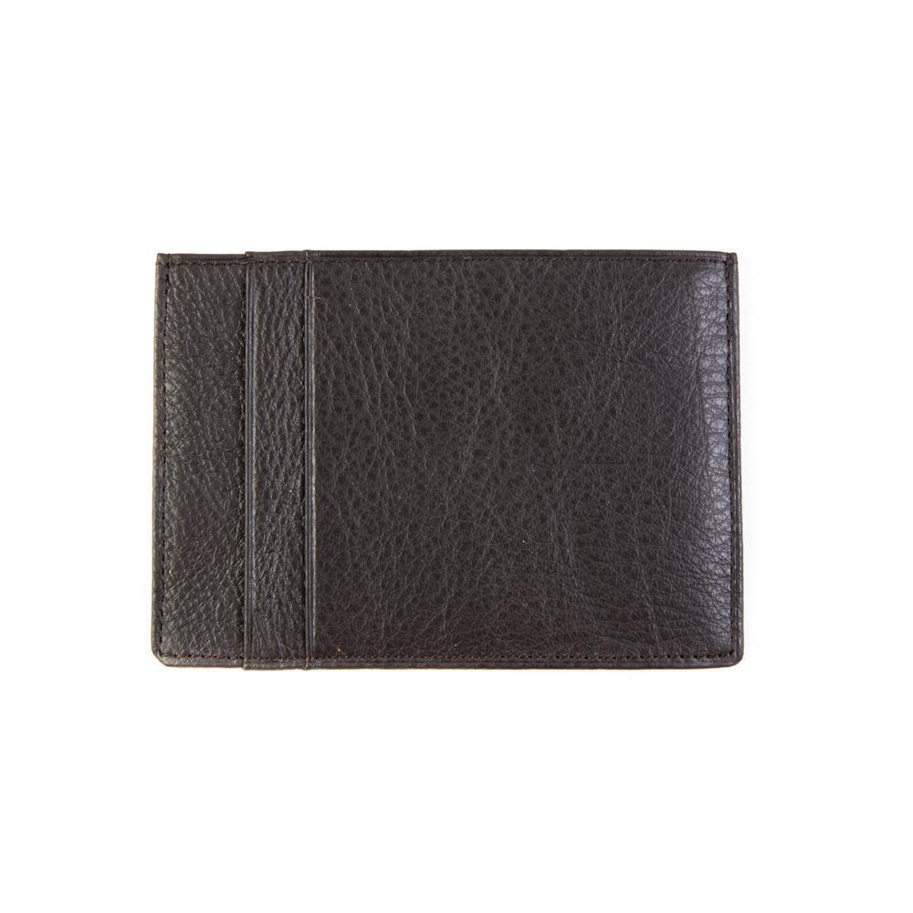 Маленький мужской коричневый кошелёк-карточница (картхолдер) с отделением для техпаспорта из натуральной кожи DoubleCity 120B-201801