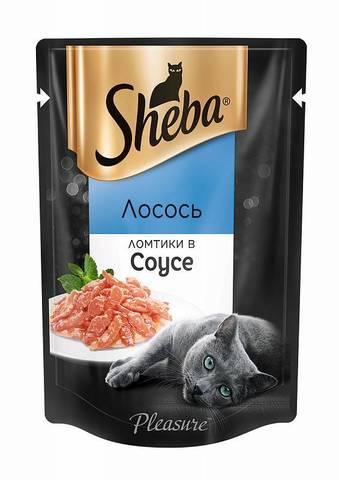 Sheba Pleasure пауч для кошек (ломтики в соусе лосось) 85г