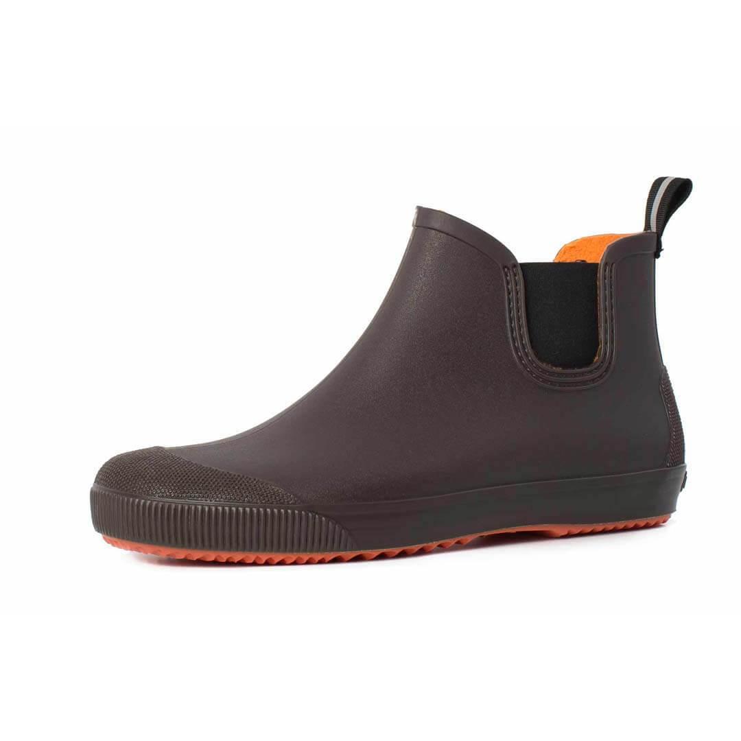 Резиновые ботинки Nordman Beat коричневые с оранжевой подошвой