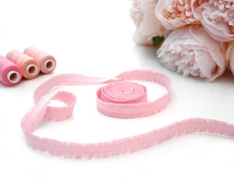 Кружевная резинка,13 мм,св.розовый