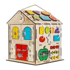 Бизиборд Дом Чудесный  со светом и с Разноцветными дверками.