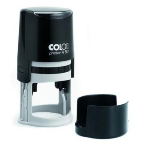 Оснастка для печати круглая Colop Printer R50 50 мм с крышкой черная