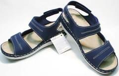 Сандали босоножки женские кожаные Inblu CB-1U Blue.