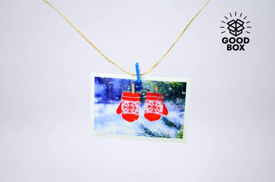 Новогодние открытки варежки купить в алматы