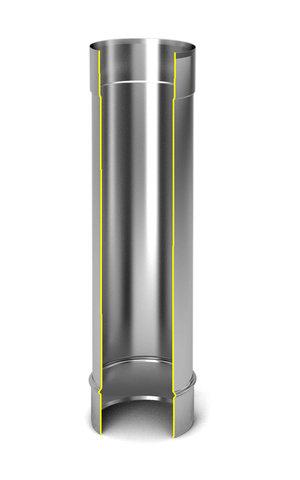 Модуль дымохода Ø80, 0,5м, 0,5мм