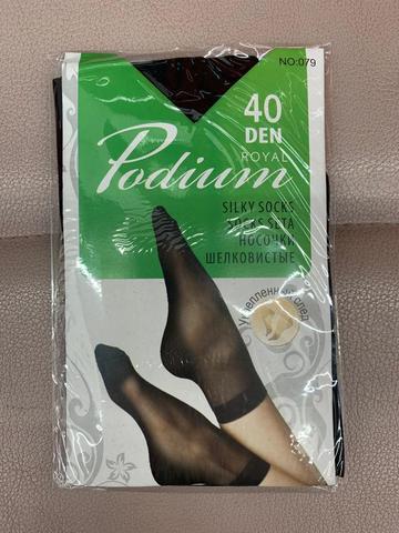 ROYAL Podium носки 40 den (укрепл. След). Черный