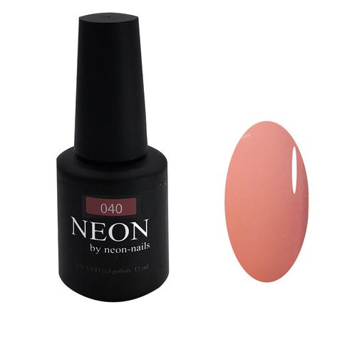 NEON, гель-лак Dark Rose № 040 , (12 ml) темно-розовый с бежевым подтоном