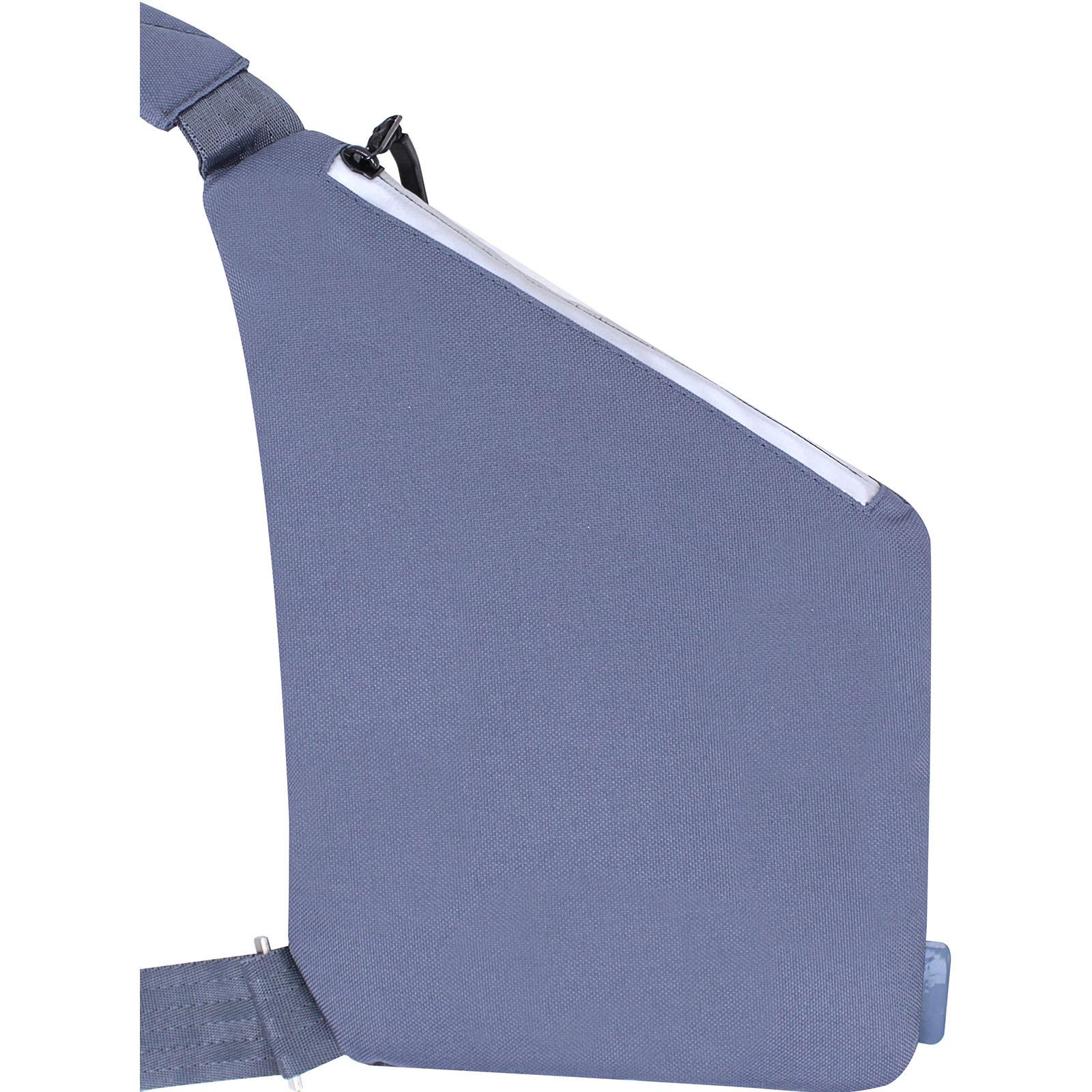 Сумка-мессенджер Bagland Triangle 3 л. серый (0021066)