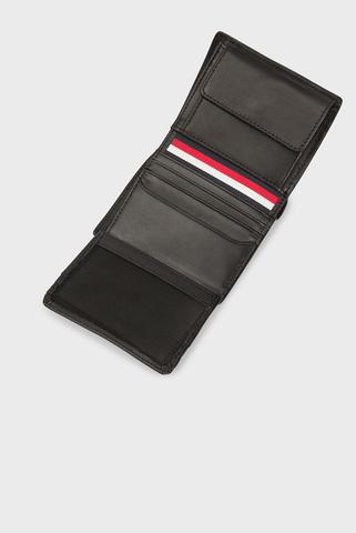 Мужской черный кожаный кошелек TH METRO N/S TRIFOLD Tommy Hilfiger