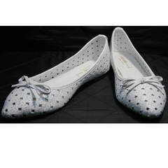 Перфорированные балетки Vasari Gloria 19Y38860-37 White.