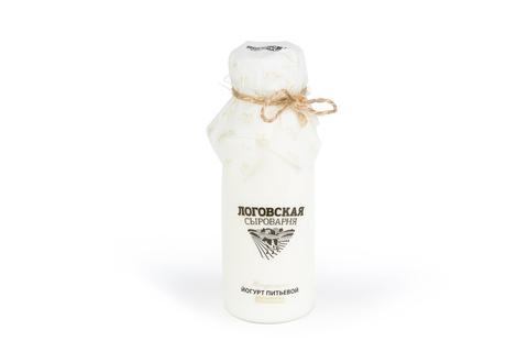 """Натуральный йогурт питьевой """"Логовская сыроварня"""" традиционный 2,5%, 300 г"""