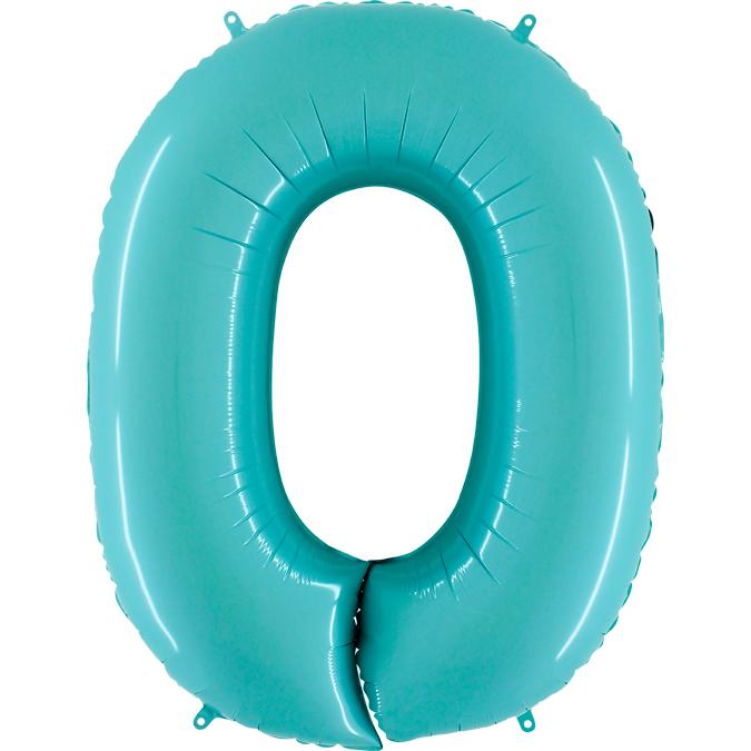 Голубая цифра 0