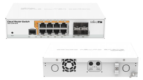 Коммутатор Cloud Router Switch Mikrotik CRS112-8P-4S-IN (RouterOS L5)