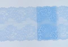 Эластичное кружево, 20 см, нежно-голубой, (Арт: EK-2149), м
