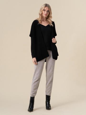 Женский жилет черного цвета из 100% кашемира - фото 5