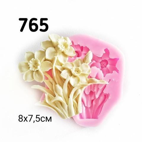0765 Молд силиконовый Нарциссы.