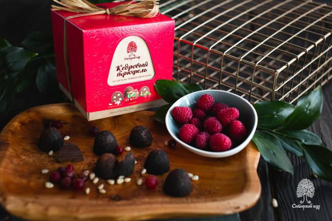 Конфеты Кедровый трюфель ассорти из тёмного шоколада