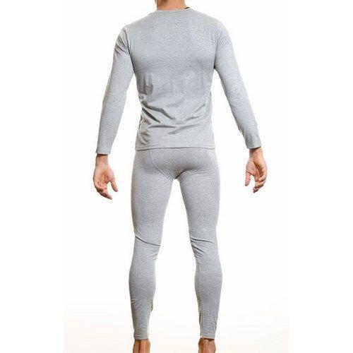 Мужское термобелье утепленное с серебристой резинкой Calvin Klein Thermal Steel Underwear Grey