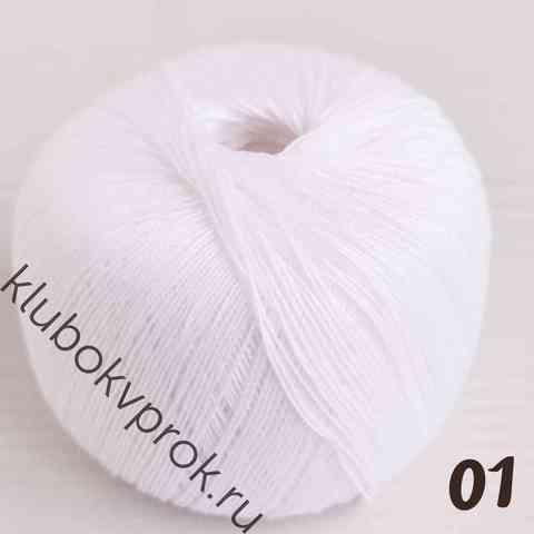 ПЕХОРКА ЦВЕТНОЕ КРУЖЕВО 01, Белый