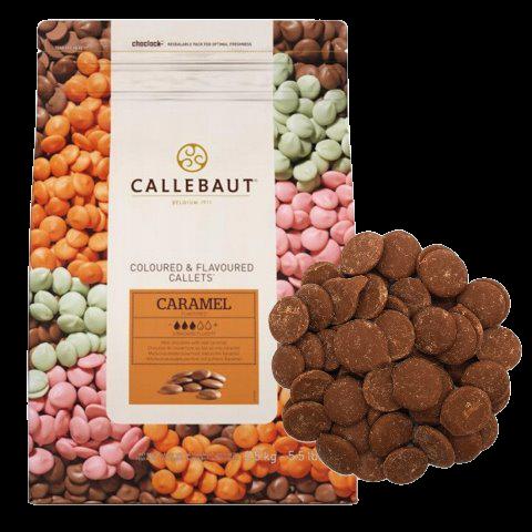 Шоколад со вкусом карамели в галетах BARRY CALLEBAUT, 250 гр.