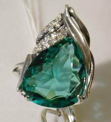 Акант (кольцо + серьги из серебра)