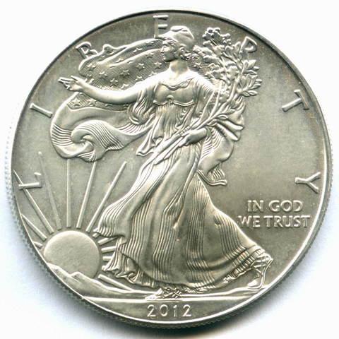"""1 доллар 2012 год США AU """"Шагающая свобода"""""""