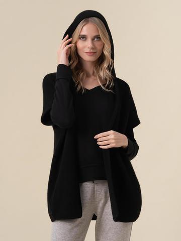 Женский жилет черного цвета из 100% кашемира - фото 2
