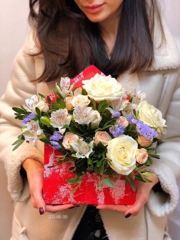 Цветы в коробке #2667