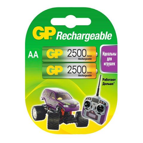 Аккумуляторные батарейки GP АА 2 штуки (2500 мАч, Ni-Mh)