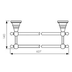 Держатель для полотенца KAISER Arno BR KH-4208 схема