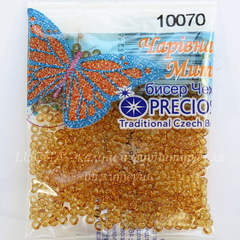 10070 Бисер 10/0 Preciosa прозрачный облепиховый