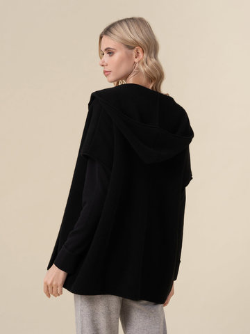 Женский жилет черного цвета из 100% кашемира - фото 4