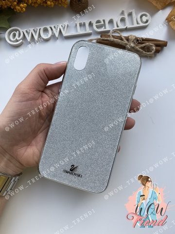Чехол iPhone 7/8 Plus Swarovski Case /silver/
