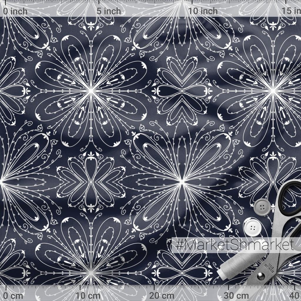 Хрупкие цветы (темно-синий)