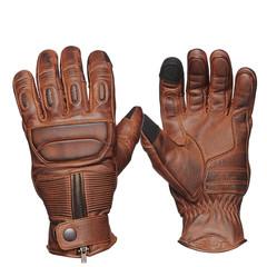 Мотоперчатки кожа Sweep Union, коричневый