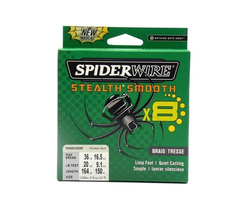 Плетеная леска Spiderwire Stealth Smooth 8 Полупрозрачная 150 м. 0,15 мм. 16,5 кг. (1515652)