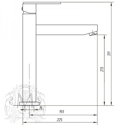 Смеситель для кухни Migliore Kvant ML.CUC-2799 схема